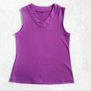 Lululemon purple v-neck athletic tank top sz 10